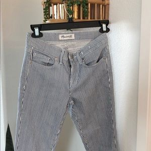 Madewell striped railroad jeans